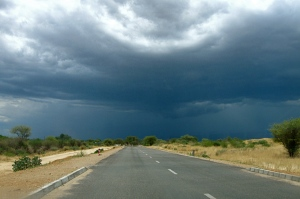 Storm over the Trans-Kalahari Highway